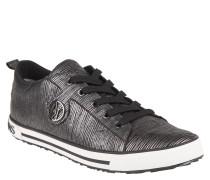 Sneaker, Streifen, Logo-Emblen, Grau