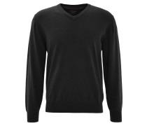 Pullover, V-Ausschnitt, Grau