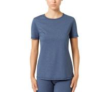 Wäsche-Shirt, feuchtigkeitsregulierend, Flachnähte, Blau