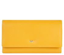 """Geldbörse """"Miami"""", Leder, Überschlag, Logo, Gelb"""