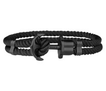 Ankerarmband PHREP IP Schwarz Nylon Schwarz 19cm
