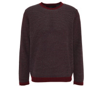 "Pullover ""Reed"", Wollanteil, Strick, Rot"
