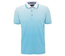 Poloshirt, Punkte, reine Baumwolle, Türkis