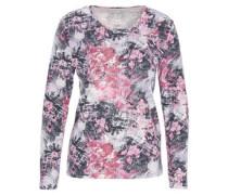 Langarmshirt, florales Muster, Supima-Cotton