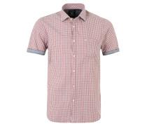 Freizeit-Hemd, kurzarm, Karo-Muster, Rot