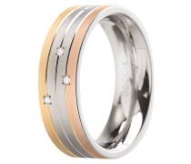 Damenring Titan mit Diamanten Tricolore 0135-02