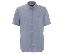 Freizeithemd, Comfort Fit, gepunktet, Button-Down-Kragen, Blau