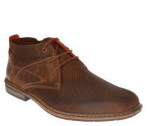 Boots, Schnürung, Leder, rahmengenäht, Braun