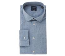 Businesshemd, Slim Fit, Brusttasche, Blau