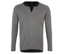 Pullover 2 in1 Design, Strick, Henley-Optik, Grau