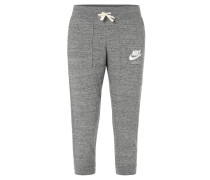 Trainingshose, Taschen, breiter Bund, Logo-Print, für Damen, Grau