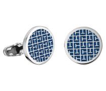 MEN'S CASUAL Manschettenknöpfe, rund, blau, 2700778