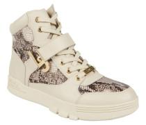 "Sneaker ""Glicine"", Reptilien-Muster, Weiß"