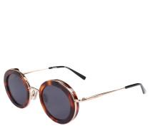 Sonnenbrille, ovale Gläser, Havana-Optik