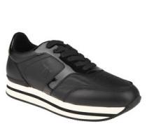 Sneaker, Lack-Optik, Plateau