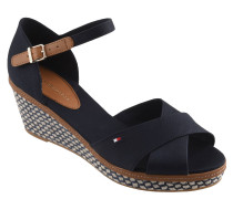Sandaletten, Keilabsatz, Web-Optik