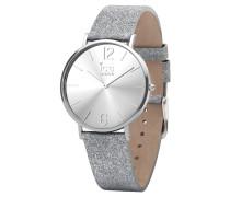 CITY sparkling Damenuhr 015080 - Glitter Silver - Extra-small - 2 Zeiger