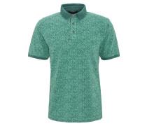 Poloshirt, gemustert, Baumwolle, Grün