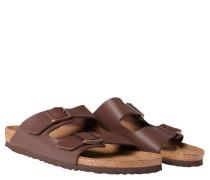 """Pantoletten """"Arizona"""", Leder-Optik, anatomisch geformtes Fußbett, Braun"""