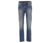 "Jeans ""Tom"", Regular Fit, Used-Look, Blau"