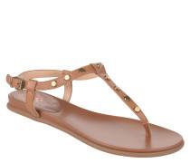 Sandale, Nieten, Schnalle, Braun