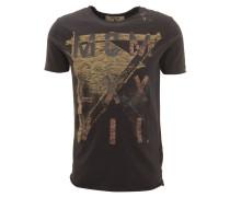 T-Shirt, Print, Flammgarn-Optik