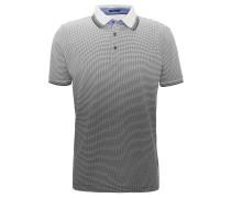 Poloshirt, Punkte, reine Baumwolle, Blau