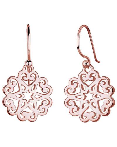 Ohrringe Ornament Herz Sterne Floral 925 Sterling Silber