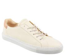 Sneaker, Leder, Kork-Innensohle, Weiß