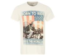 T-Shirt, Frontprint, reine Baumwolle