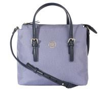 Handtasche, kompakt, Jeans-Optik, Blau