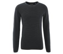 Pullover, Baumwolle, Used-Look, Schwarz
