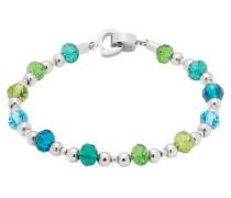 Armband, Capri, Edelstahl, Glas, 015923