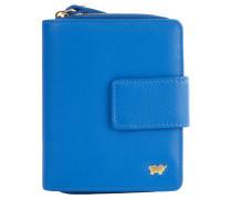 "Geldbörse ""Miami"", Leder, Logo, kompakt, Blau"