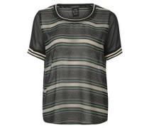 T-Shirtbluse, Mustermix, verzierte Säume