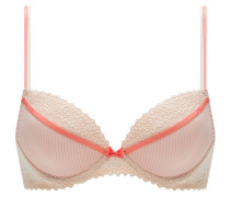 "Push-Up-BH ""Lovely"", Streifen-Design, Schleifchen, Rosa"