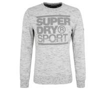 """Sweatshirt """"Gym Tech"""", meliert, Print, für Herren, Grau"""