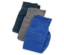 Socken, 3er-Pack, uni