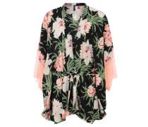 "Morgenmantel ""Delicate Flower Kimono"", Spitze, floral, Mehrfarbig"