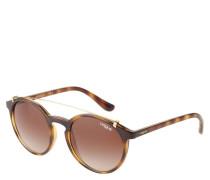 """Sonnenbrille """"VO 5161-S"""", Havana-Optik, runde Gläser, Gold-Details"""