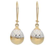 Ohrhänger, bicolor, diamantiert, 375er Gold