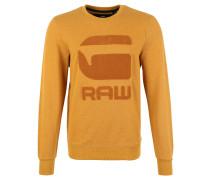 Sweatshirt, Baumwoll-Mix, Emblem, Gold