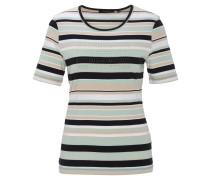 T-Shirt, gestreift, Strass-Applikation, Baumwolle