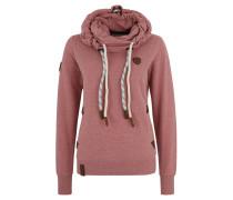 Sweatshirt, Kordelzug, Schlauchkragen, Logo-Patches