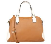 Handtasche, Tragegriffe, abnehmbarer Schulterriemen, Braun