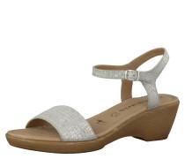 Sandalette, Keilabsatz, Grau