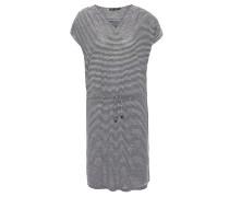 Kleid, Kurzarm, Taillen-Schnürung, integriertes Träger-Kleid, Weiß