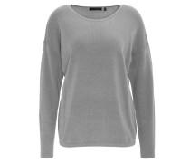 Pullover, unifarben, Rundhalsausschnitt, Grau