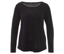 Pullover, einfarbiges Design, Feinstrick, Schwarz