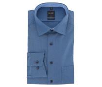 "Businesshemd ""Luxor"", Modern Fit, Kent-Kragen, Rauten-Muster, Blau"